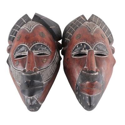 Tikar Style Handcrafted Wood Masks, Cameroon