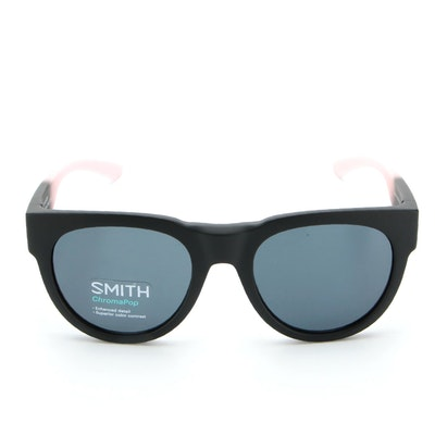 Smith Crusader ChromaPop Sunglasses in Matte Black Dusty Pink with Case