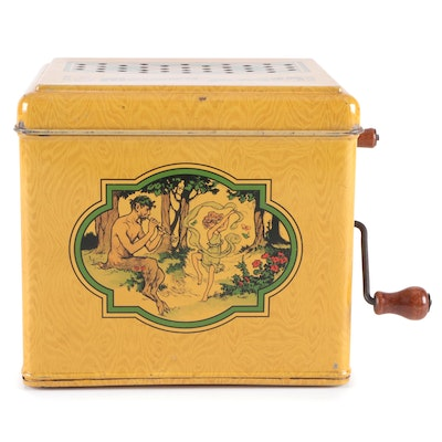 J. Chein & Co. Tin Litho Melody Player Toy, Mid-20th Century