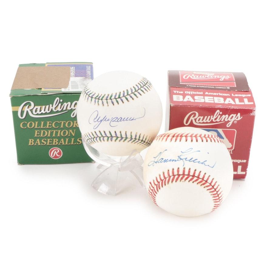 Harmon Killebrew and Andre Dawson Rawlings Signed Baseballs