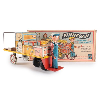 """Unique Art Mfg Co. """"Finnegan"""" Tin Lithograph Wind-Up Toy, Mid-20th Century"""