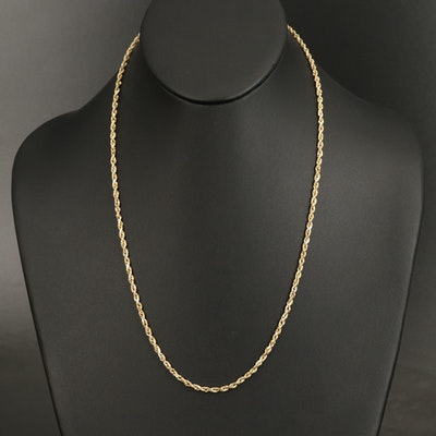 Peruvian 14K Rope Chain Necklace