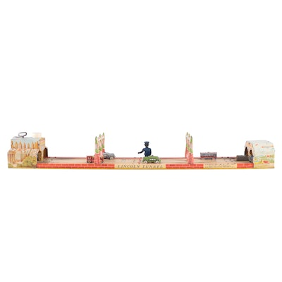 Unique Art Mfg. Co. Lincoln Tunnel Tin Litho Wind-Up Toy, Mid-20th Century