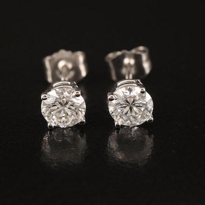 14K 0.98 CTW Diamond Stud Earrings