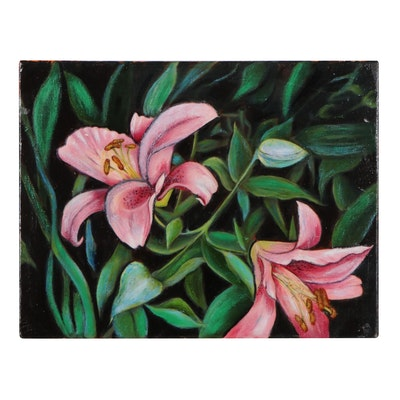 """Michael Ralston Howell Floral Oil Painting """"San Souci (No Worries),"""" 2021"""