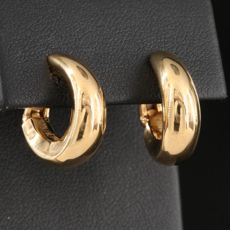 Chaumet Paris 18K Huggie Hoop Earrings