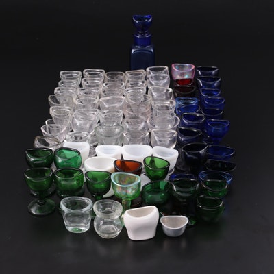 English and American Glass and Ceramic Eye Wash Cups