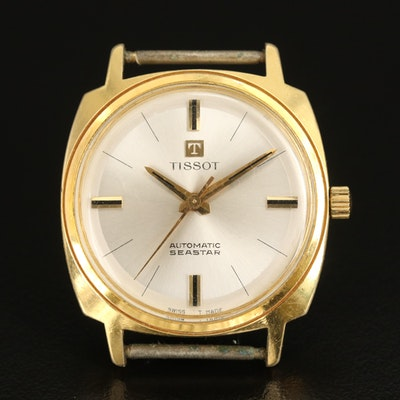 Vintage Tissot Seastar Gold Tone Automatic Wristwatch
