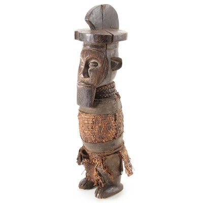 Teke Style Hand-Carved Wood Figure, Central Africa