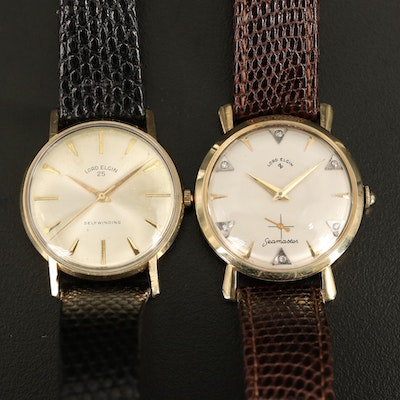 Pair of 10K and 14K Lord Elgin Wristwatches