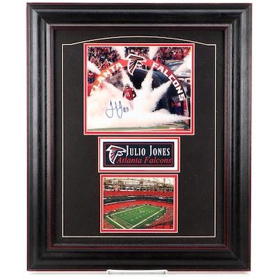 Julio Jones Atlanta Falcons Signed Photo Print Framed Display, COA