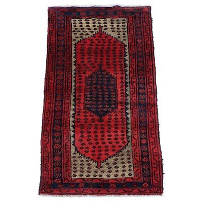 3'3 x 5'11 Hand-Knotted Persian Hamadan Area Rug