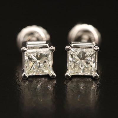 14K 0.97 CTW Diamond Stud Earrings