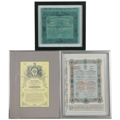 Various European and Russian Certificates, 1910s