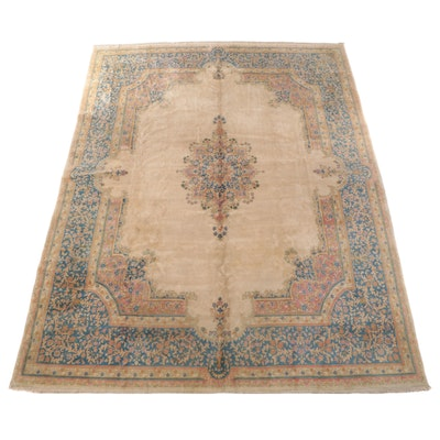 11'7 x 15'2 Hand-Knotted Persian Kerman Room Sized Rug
