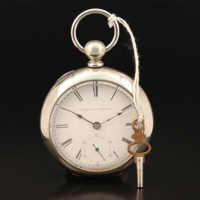 1881 Elgin Key Wind and Set Nickel Pocket Watch