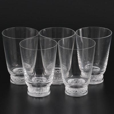 "Lalique ""Saint Hubert"" Crystal Tumblers, Mid-20th Century"