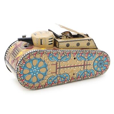 Marx & Co. Wind Up Tin Litho Doughboy Tank, Early 20th Century