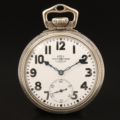 1929 Ball Official Standard Pocket Watch