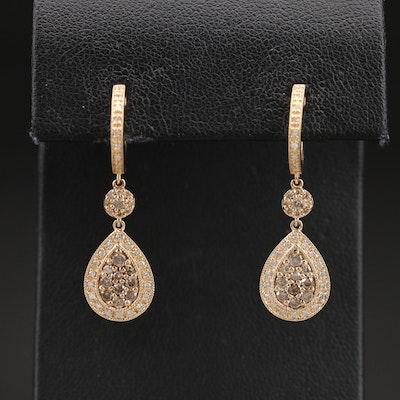 14K 0.80 CTW Diamond Teardrop Earrings