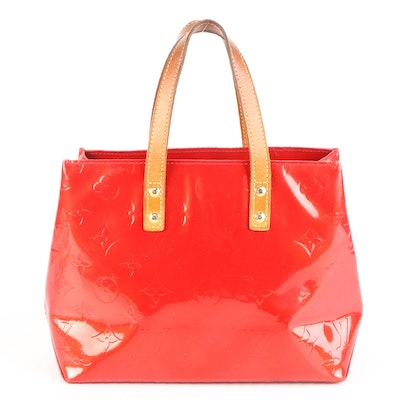 Louis Vuitton Reade PM in Red Monogram Vernis and Vachetta Leather