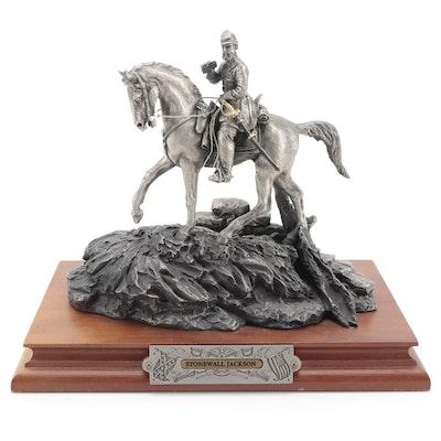 "Francis J. Barnum for Chilmark ""Stonewall Jackson"" Pewter Sculpture, 1991"