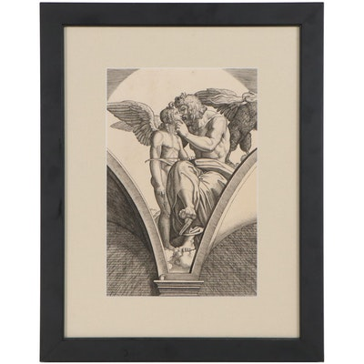 "Engraving After Marcantonio Raimondi ""Jupiter Embracing Cupid"""