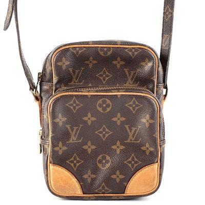 Louis Vuitton Amazone Cross Body Bag in Monogram Canvas and Vachetta Leather