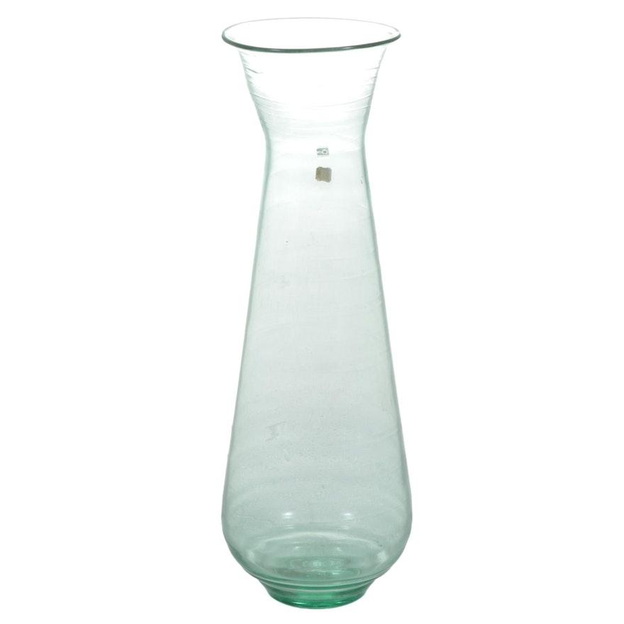 Blenko Large Handblown Glass Floor Vase, Mid to Late 20th Century