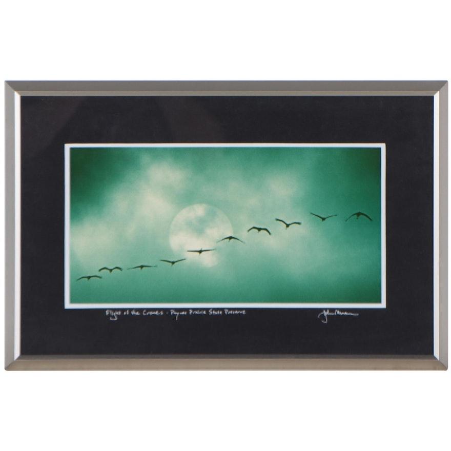 "John Moran Chromogenic Color Photograph ""Flight of the Cranes"""
