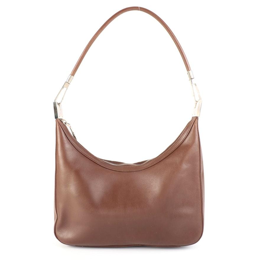 Gucci Shoulder Bag in Brown Leather