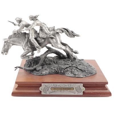 """Fran Barnum for Chilmark """"Bedford Forrest"""" Pewter Sculpture, 1990"""
