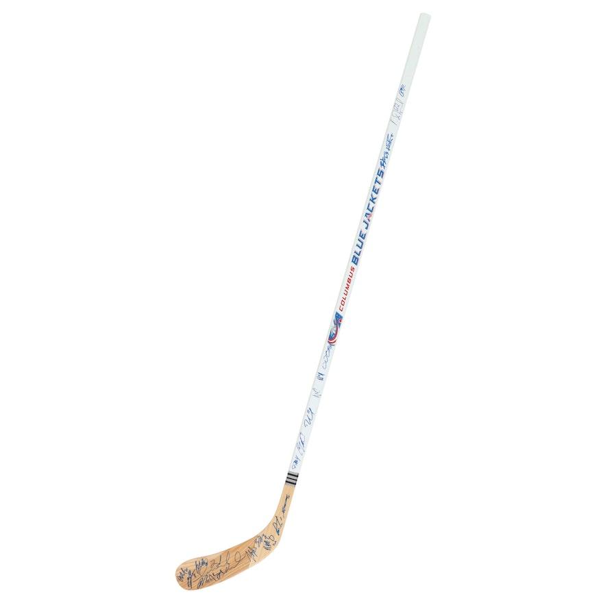 2011-2012 NHL Columbus Blue Jackets Team Signed Hockey Stick, COA