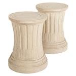 Pair of Neoclassical Cement Composite Pedestals