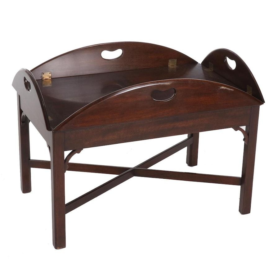 Kittinger Walnut Tray-Top Table