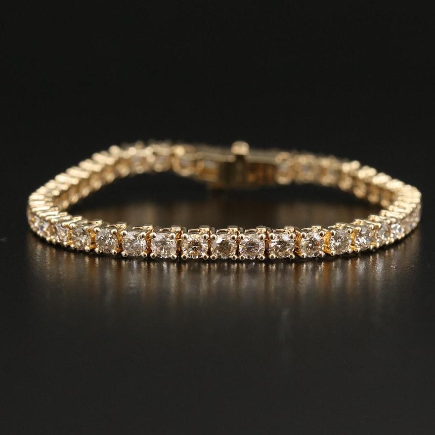 14K 10.10 CTW Diamond Tennis Bracelet