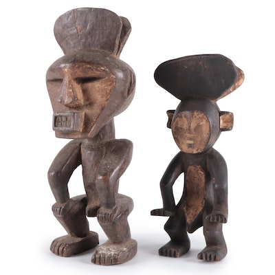 Mbole Style Hand-Carved Wood Figure, Democratic Republic of the Congo