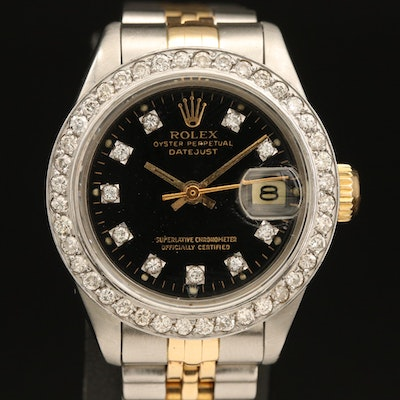 1982 Rolex Datejust Diamond 18K Gold and Stainless Steel Automatic Wristwatch