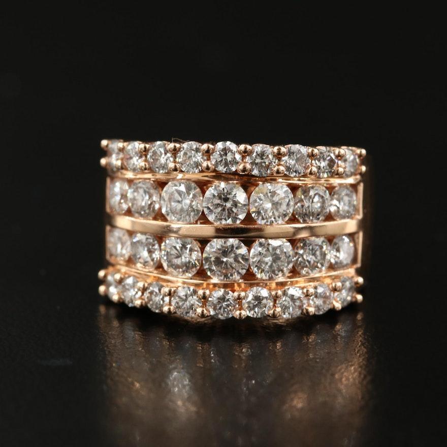 14K Rose Gold 3.00 CTW Diamond Ring