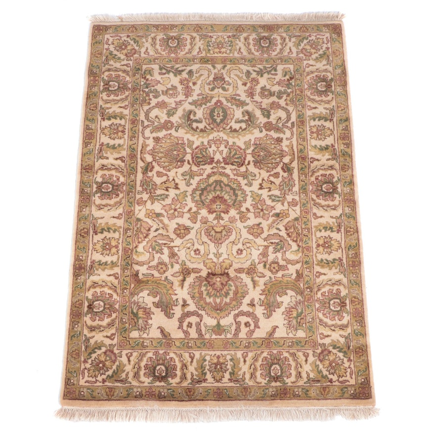 4' x 6'6 Hand-Knotted Indian Agra Area Rug