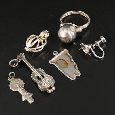 Sterling Scrap Pendants and Ring