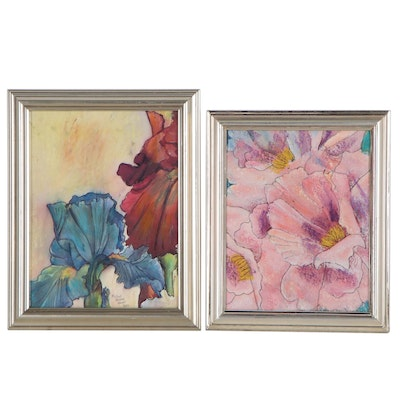 Michael Howell Floral Latex Paintings, 2021