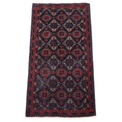 3'3 x 6'4 Hand-Knotted Persian Baluch Area Rug