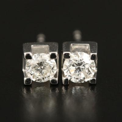 14K 0.87 CTW Diamond Stud Earrings