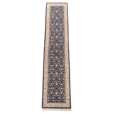 2'6 x 11'11 Hand-Knotted Indian Floral Carpet Runner