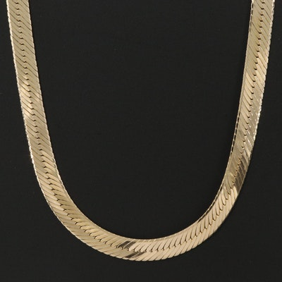 Maltese 14K Herringbone Chain Necklace