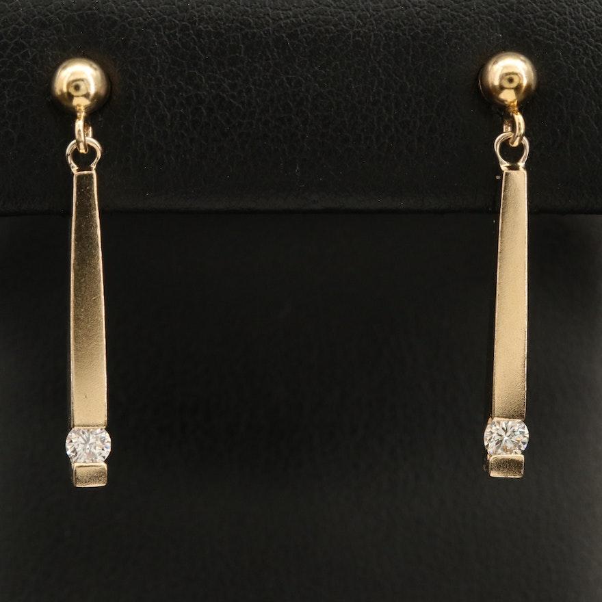 14K 0.21 CTW Diamond Tension Set Drop Earrings