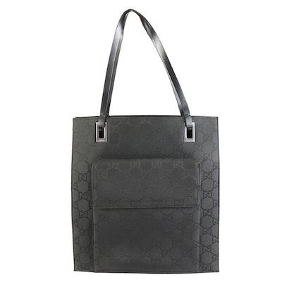 Gucci Tall Tote Bag in Black GG Nylon