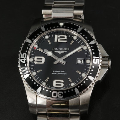 Longines Hydro Conquest Stainless Steel Automatic Wristwatch