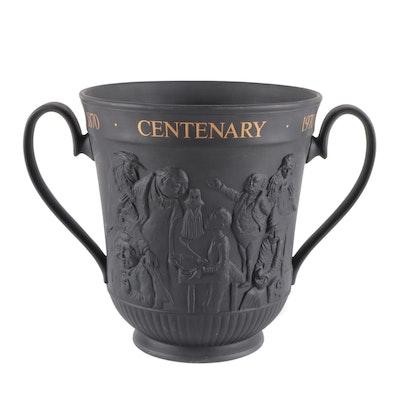 "Royal Doulton Black Basalt Centenary ""Charles Dickens"" Loving Cup, 1970"